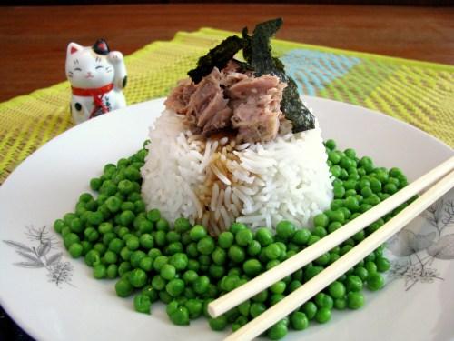 אורז עם טונה ואפונה