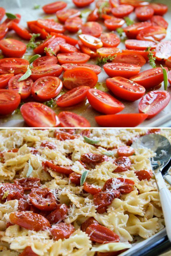 פסטה עם עגבניות צלויות – או רוטב לפסטה בתנור