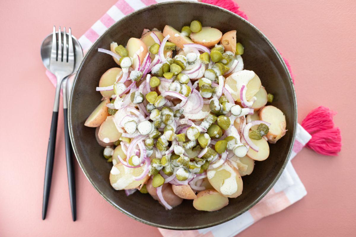 סלט תפוחי אדמה טבעוני